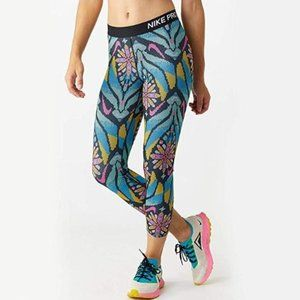 Nike Womens Pro Feature Femme All Over Print Crop